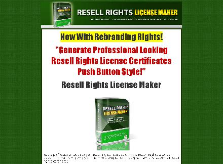 Resell Rights License Maker - Brandable Software! review