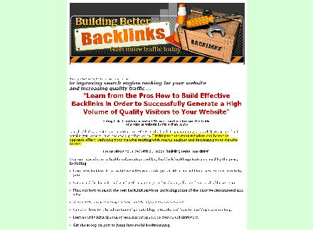 Building Better Backlinks review