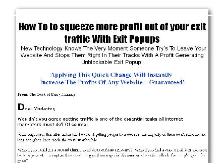 My Exit Profit Generator review