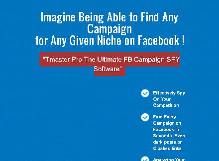 Tmaster Pro The Ultimate FB ADS SPY Software review
