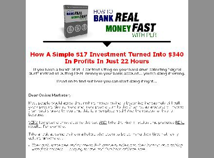How to Turn PLR Into Real Cash review