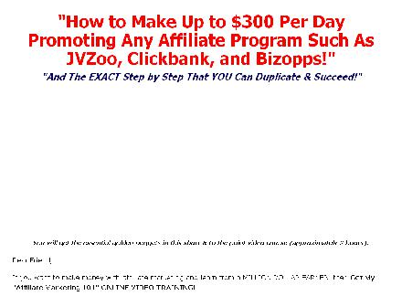 Affiliate Marketing 101 Online Video Training Course review