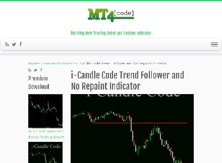 i-Candle Code Trend Follower and No Repaint Indicator review