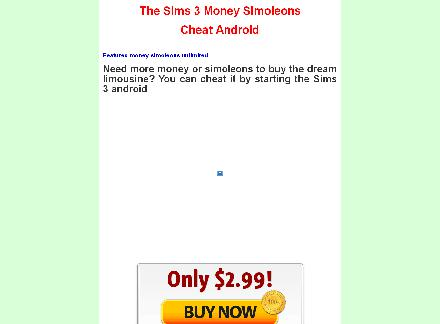 The Sims 3 Money Simoleons Cheat Android review