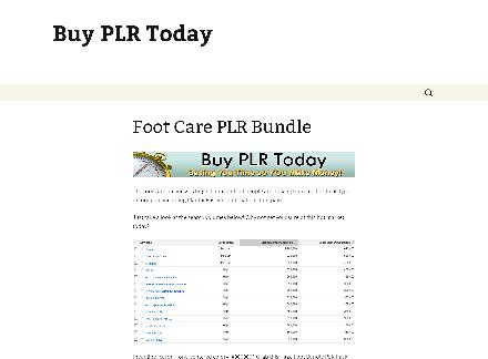 Foot Care PLR Bundle review