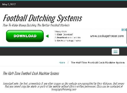 The Half-Time Football Cash Machine System reviews