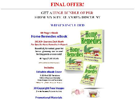 Home Remedies/Wellness PLR Bundle (WELL-OTO-2) review