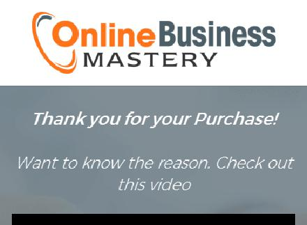 Online Business Mastery Upsell review