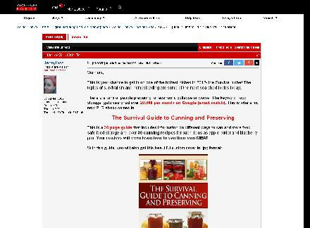 Survival Canning and Preserving eBook PLR review