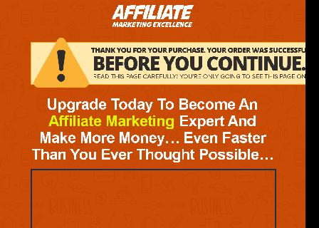 [FULL PLR] Affiliate Marketing Excellence - Expert review