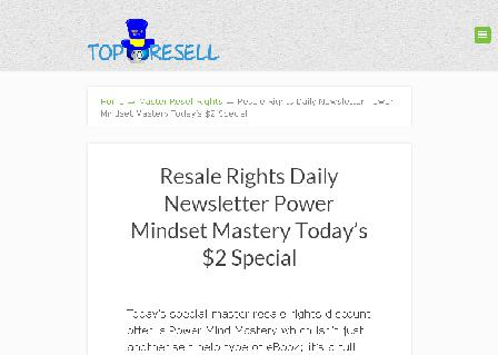 Power Mindset Mastery Resale Rights Special Discount review