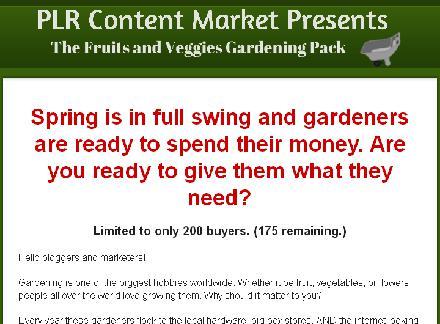 Fruit and Vegetable Gardening PLR review