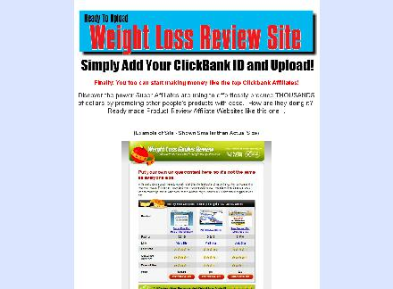 Affiliate Review Site for ClickBank Weight Loss Products review