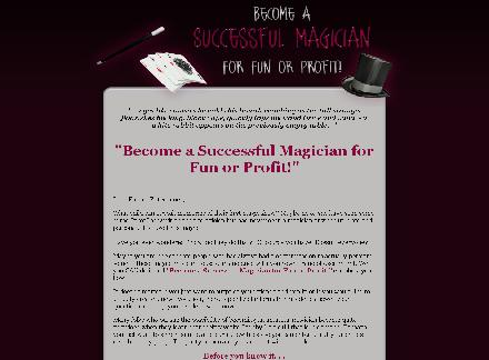 How To Become A Successful Magician for Fun and Profit review