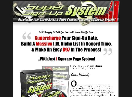 SuperSignUpSystem with MMR resale right review