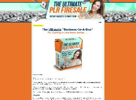 The Ultimate PLR Firesale review