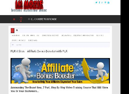 PLR Videos Affiliate Bonus Booster Video Course With PLR review