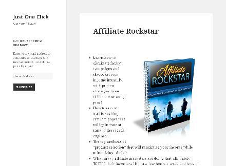 Affiliate Rockstar review