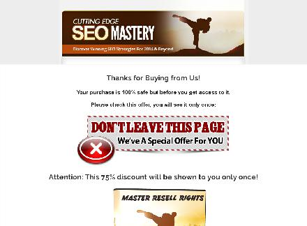 Cutting Edge SEO Video Training with MRR review