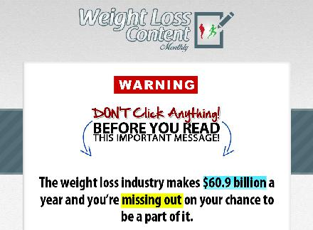 Weight Loss Content Monthly - Special Offer review