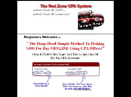 Red Zone CPA-Make $300 Per Day OFFLINE review
