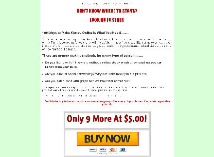 100 Ways to Make Money Online review