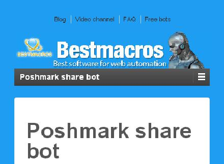 Poshmark share BOT - 7 days trial review