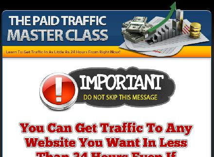 Paid Traffic Master Class review