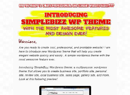 Wp Theme Simple Bizz - Developer License review