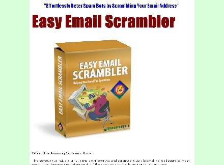 Easy Email Scrambler Comes with Master Resale Rights review