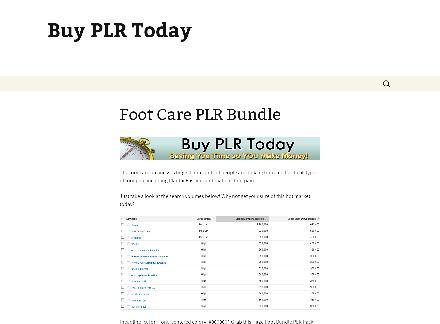 Foot Care PLR Bundle review