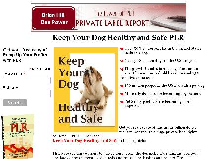 Keep Your Dog Healthy and Safe PLR package review