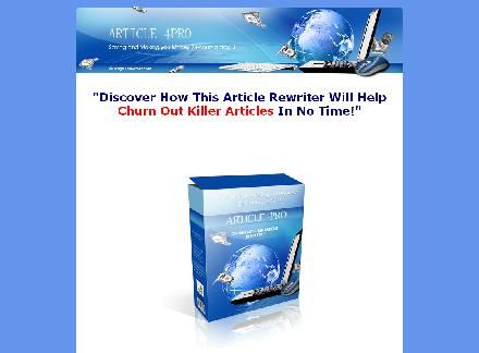 Article Rewriter Pro review