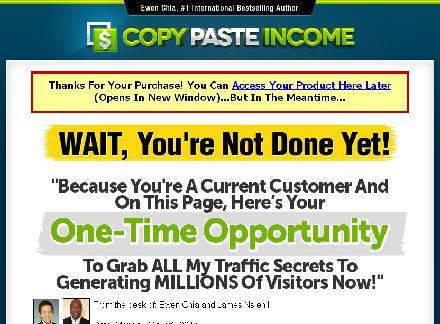Copy Paste Income Upgrade review