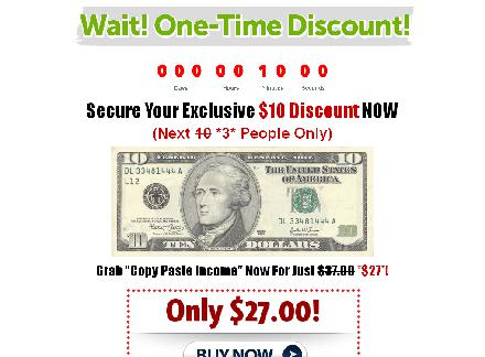 Copy Paste Income Discount review