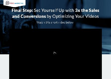 Video Optimization Expertise review