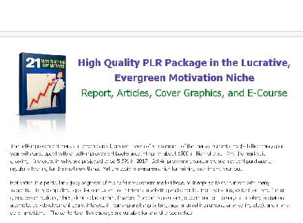 High Quality PLR Pack review