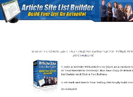 Article Site List Builder review