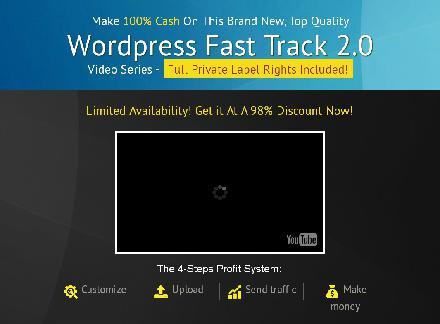 [PLR] WordPress Fast Track V 2.0 review