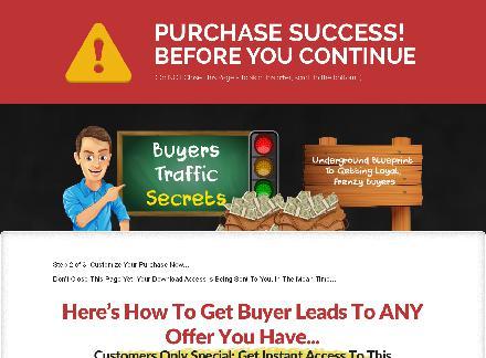 Buyers Traffic Secrets + Mega Bonuses review