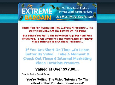 6 Internet Marketing Video Tutorials Products review
