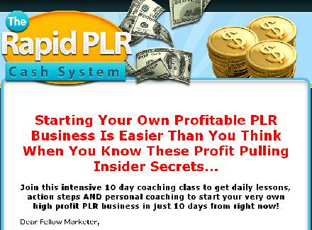 Rapid PLR Cash System review