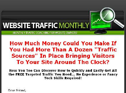 Website Traffic Monthly review