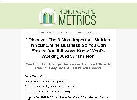 Internet Marketing Metrics review