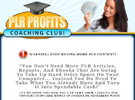 PLR Profits Coaching Club review