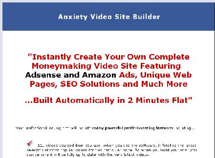 Anxiety Video Site Builder review