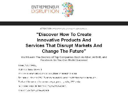 Entrepreneur Disruption review