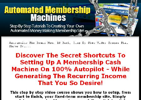 Automated Membership Machines review