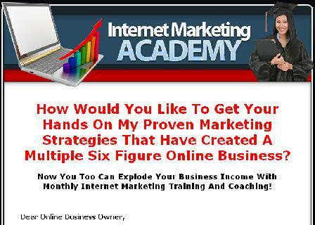 Internet Marketing Academy Membership review