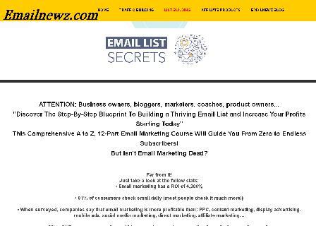 Email List Secrets review